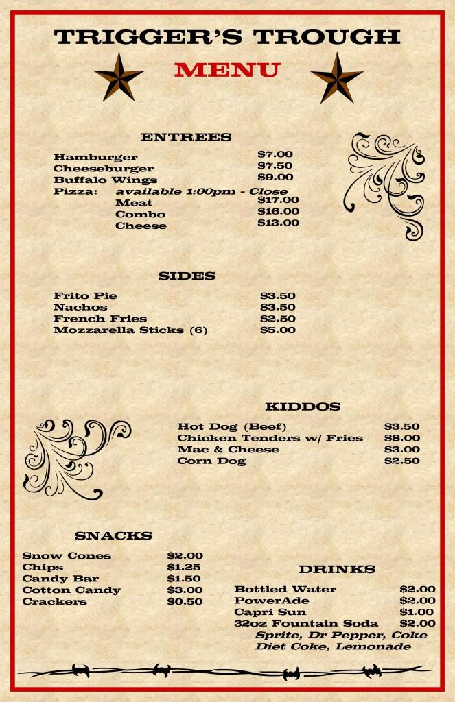 Trigger's menu
